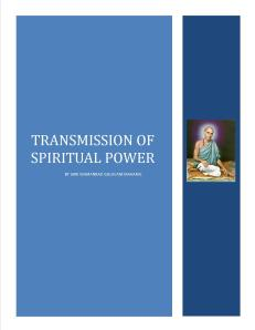 Transmission of Spiritual Power-- Gulavani Maharaj.